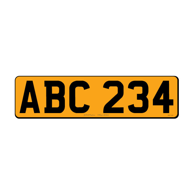 6 Digit Small Rectangle UK Rear Bespoke Legal Number Plate