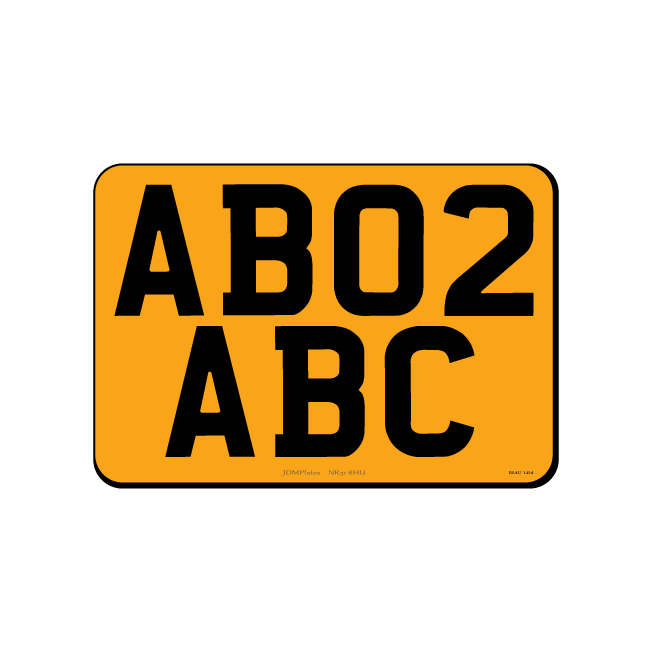 7 Digit Small Square JDM Rear Bespoke Legal Number Plate