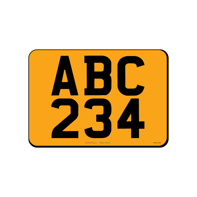 6 Digit Small Square JDM Rear Bespoke Legal Number Plate