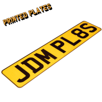 Small Printed Rectangle JDM Front & Rear Bespoke Legal Number Plates