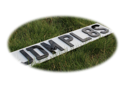 Small 4D 3mm JDM Front & Rear Bespoke Legal Number Plates For Imported Vehicles