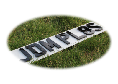 Small 4D 5mm JDM Front & Rear Bespoke Legal Number Plates For Imported Vehicles