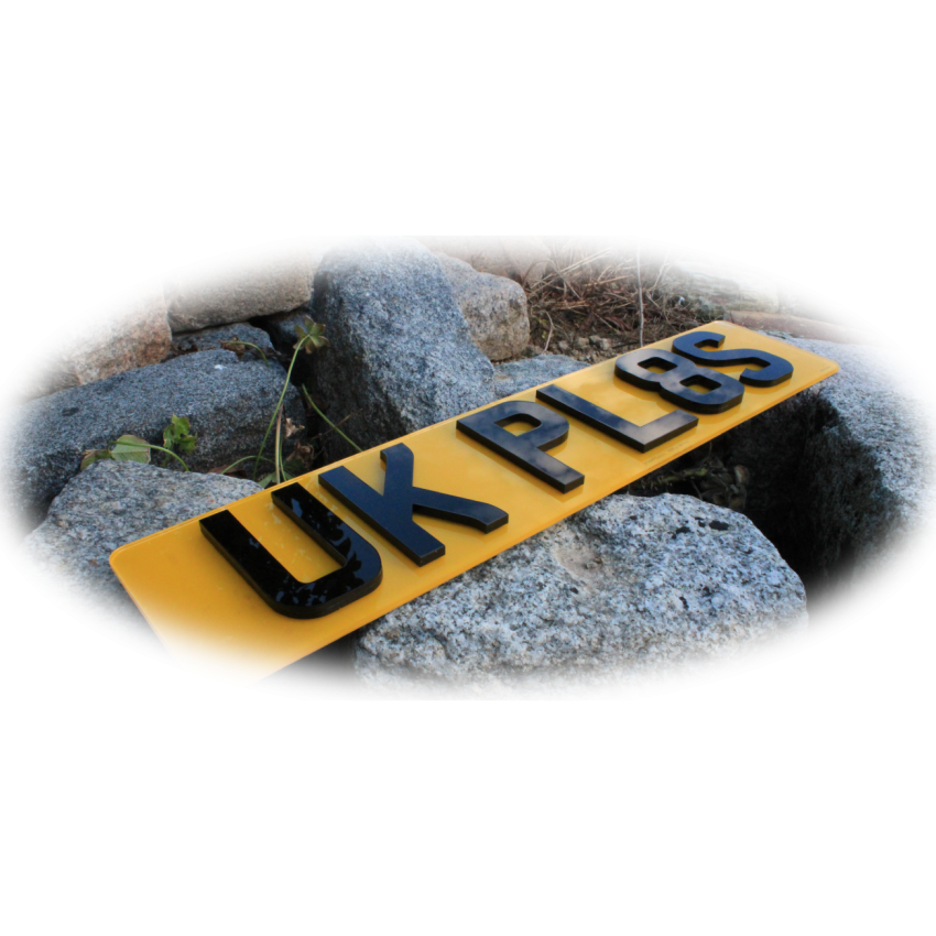 Small 4D+ 5mm UK Front & Rear Bespoke Legal Number Plates For ALL UK Vehicles