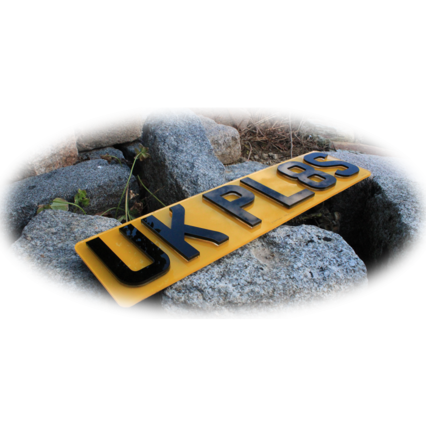Small 4D Krystal UK Front & Rear Bespoke Legal Number Plates For ALL Vehicles